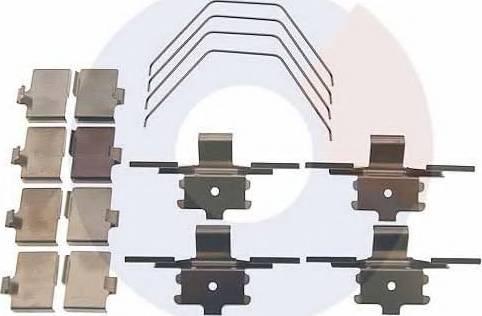 Carrab Brake Parts 2523 - Piederumu komplekts, Disku bremžu uzlikas interparts.lv
