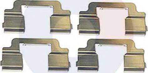 Carrab Brake Parts 2522 - Piederumu komplekts, Disku bremžu uzlikas interparts.lv