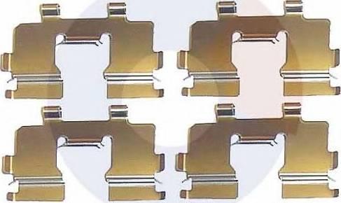 Carrab Brake Parts 2091 - Piederumu komplekts, Disku bremžu uzlikas interparts.lv