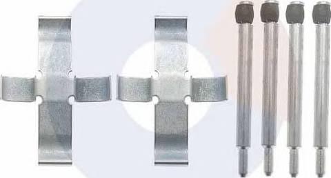 Carrab Brake Parts 2051 - Piederumu komplekts, Disku bremžu uzlikas interparts.lv