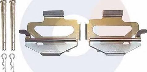 Carrab Brake Parts 2190 - Piederumu komplekts, Disku bremžu uzlikas interparts.lv