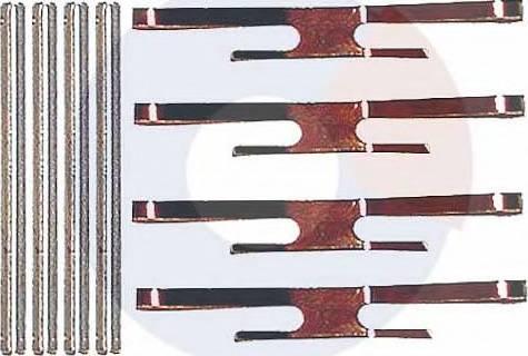 Carrab Brake Parts 2129 - Piederumu komplekts, Disku bremžu uzlikas interparts.lv