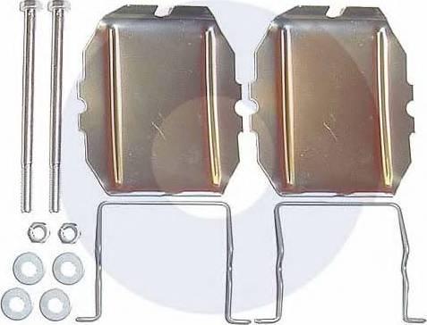 Carrab Brake Parts 2122 - Piederumu komplekts, Disku bremžu uzlikas interparts.lv