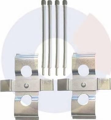 Carrab Brake Parts 2394 - Piederumu komplekts, Disku bremžu uzlikas interparts.lv