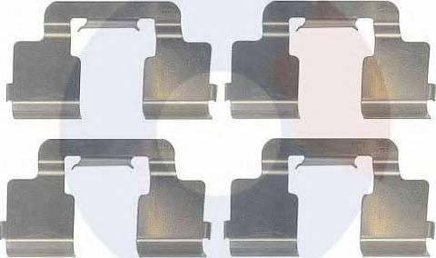 Carrab Brake Parts 2390 - Piederumu komplekts, Disku bremžu uzlikas interparts.lv