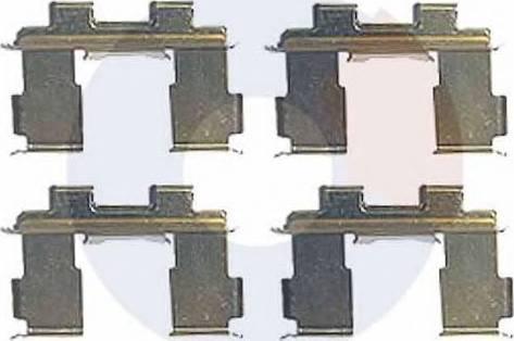 Carrab Brake Parts 2398 - Piederumu komplekts, Disku bremžu uzlikas interparts.lv