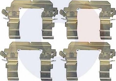 Carrab Brake Parts 2393 - Piederumu komplekts, Disku bremžu uzlikas interparts.lv