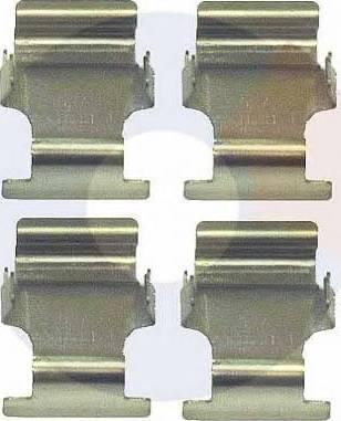 Carrab Brake Parts 2341 - Piederumu komplekts, Disku bremžu uzlikas interparts.lv