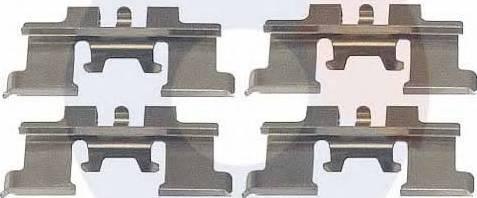 Carrab Brake Parts 2343 - Piederumu komplekts, Disku bremžu uzlikas interparts.lv