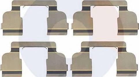 Carrab Brake Parts 2369 - Piederumu komplekts, Disku bremžu uzlikas interparts.lv