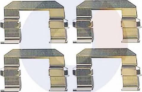 Carrab Brake Parts 2364 - Piederumu komplekts, Disku bremžu uzlikas interparts.lv