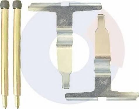 Carrab Brake Parts 2366 - Piederumu komplekts, Disku bremžu uzlikas interparts.lv