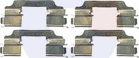 Carrab Brake Parts 2360 - Piederumu komplekts, Disku bremžu uzlikas interparts.lv