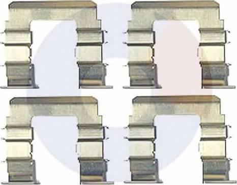 Carrab Brake Parts 2363 - Piederumu komplekts, Disku bremžu uzlikas interparts.lv