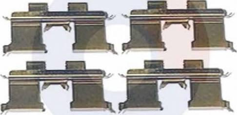 Carrab Brake Parts 2367 - Piederumu komplekts, Disku bremžu uzlikas interparts.lv