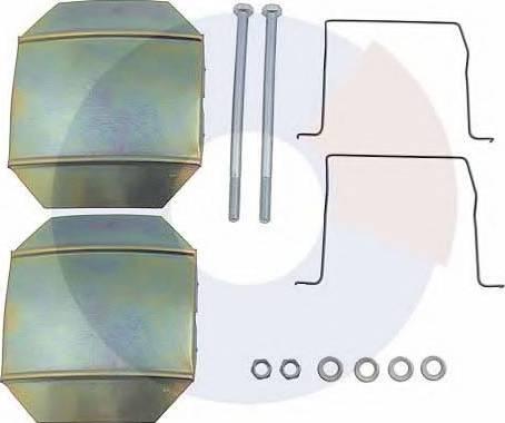 Carrab Brake Parts 2309 - Piederumu komplekts, Disku bremžu uzlikas interparts.lv