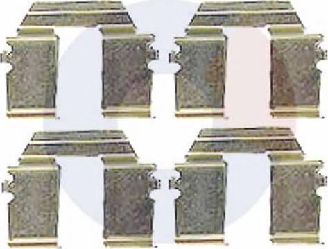 Carrab Brake Parts 2304 - Piederumu komplekts, Disku bremžu uzlikas interparts.lv