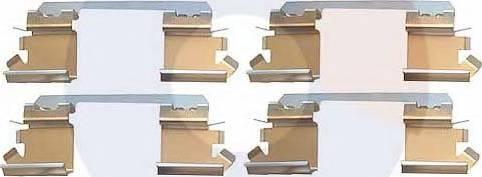 Carrab Brake Parts 2306 - Piederumu komplekts, Disku bremžu uzlikas interparts.lv