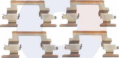 Carrab Brake Parts 2308 - Piederumu komplekts, Disku bremžu uzlikas interparts.lv