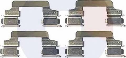 Carrab Brake Parts 2303 - Piederumu komplekts, Disku bremžu uzlikas interparts.lv