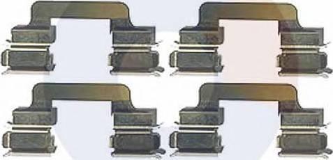 Carrab Brake Parts 2302 - Piederumu komplekts, Disku bremžu uzlikas interparts.lv