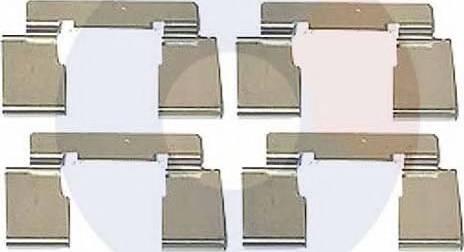 Carrab Brake Parts 2307 - Piederumu komplekts, Disku bremžu uzlikas interparts.lv