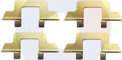 Carrab Brake Parts 2314 - Piederumu komplekts, Disku bremžu uzlikas interparts.lv