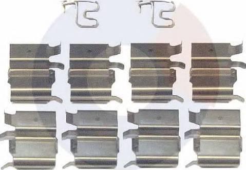 Carrab Brake Parts 2316 - Piederumu komplekts, Disku bremžu uzlikas interparts.lv