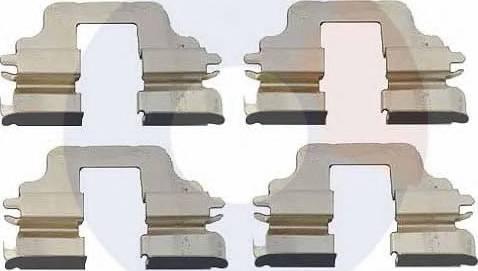 Carrab Brake Parts 2317 - Piederumu komplekts, Disku bremžu uzlikas interparts.lv