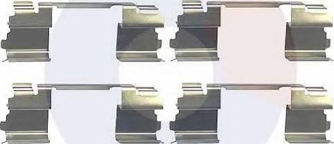 Carrab Brake Parts 2389 - Piederumu komplekts, Disku bremžu uzlikas interparts.lv