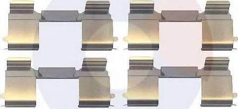 Carrab Brake Parts 2385 - Piederumu komplekts, Disku bremžu uzlikas interparts.lv