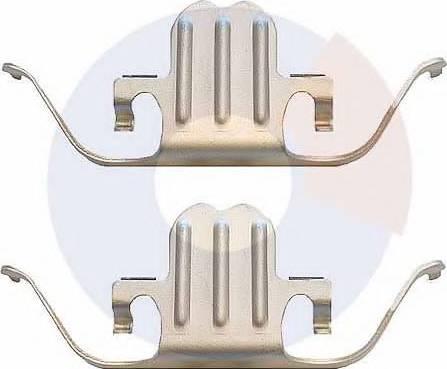 Carrab Brake Parts 2380 - Piederumu komplekts, Disku bremžu uzlikas interparts.lv
