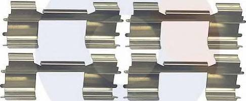 Carrab Brake Parts 2388 - Piederumu komplekts, Disku bremžu uzlikas interparts.lv