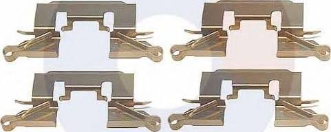 Carrab Brake Parts 2383 - Piederumu komplekts, Disku bremžu uzlikas interparts.lv