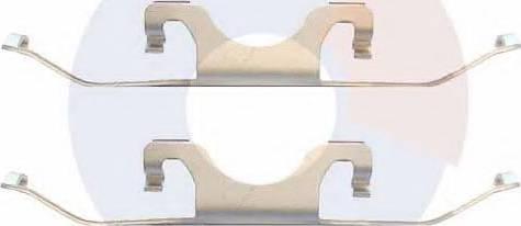 Carrab Brake Parts 2382 - Piederumu komplekts, Disku bremžu uzlikas interparts.lv