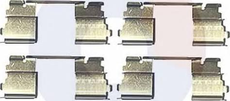 Carrab Brake Parts 2387 - Piederumu komplekts, Disku bremžu uzlikas interparts.lv