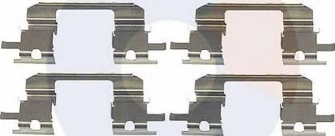 Carrab Brake Parts 2339 - Piederumu komplekts, Disku bremžu uzlikas interparts.lv