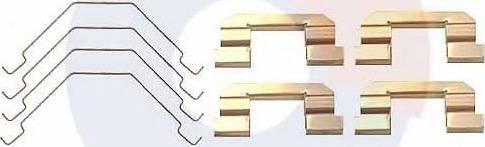Carrab Brake Parts 2334 - Piederumu komplekts, Disku bremžu uzlikas interparts.lv