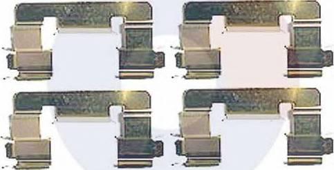 Carrab Brake Parts 2336 - Piederumu komplekts, Disku bremžu uzlikas interparts.lv