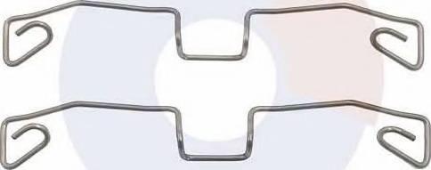 Carrab Brake Parts 2331 - Piederumu komplekts, Disku bremžu uzlikas interparts.lv