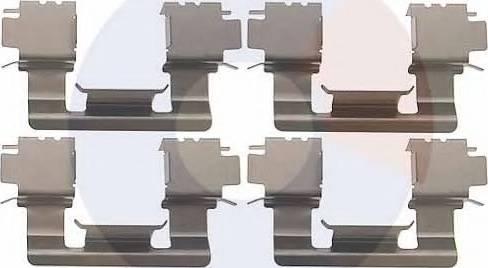 Carrab Brake Parts 2338 - Piederumu komplekts, Disku bremžu uzlikas interparts.lv