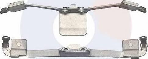 Carrab Brake Parts 2333 - Piederumu komplekts, Disku bremžu uzlikas interparts.lv