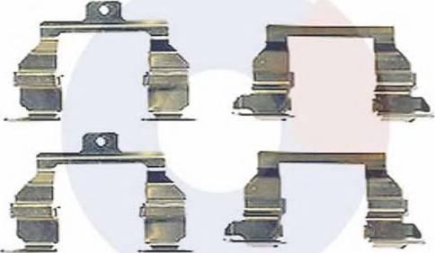 Carrab Brake Parts 2332 - Piederumu komplekts, Disku bremžu uzlikas interparts.lv
