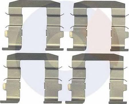 Carrab Brake Parts 2337 - Piederumu komplekts, Disku bremžu uzlikas interparts.lv