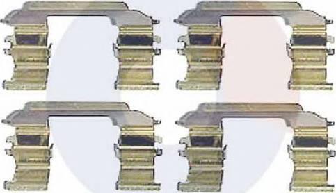 Carrab Brake Parts 2324 - Piederumu komplekts, Disku bremžu uzlikas interparts.lv