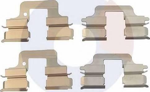 Carrab Brake Parts 2325 - Piederumu komplekts, Disku bremžu uzlikas interparts.lv