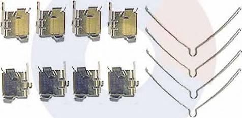 Carrab Brake Parts 2328 - Piederumu komplekts, Disku bremžu uzlikas interparts.lv