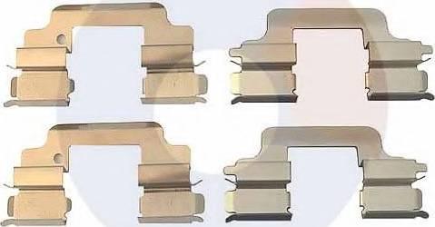 Carrab Brake Parts 2323 - Piederumu komplekts, Disku bremžu uzlikas interparts.lv