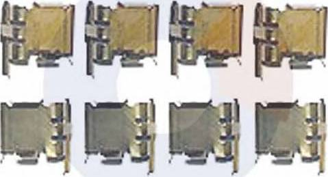 Carrab Brake Parts 2322 - Piederumu komplekts, Disku bremžu uzlikas interparts.lv