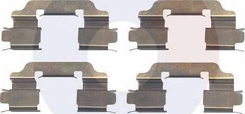 Carrab Brake Parts 2327 - Piederumu komplekts, Disku bremžu uzlikas interparts.lv
